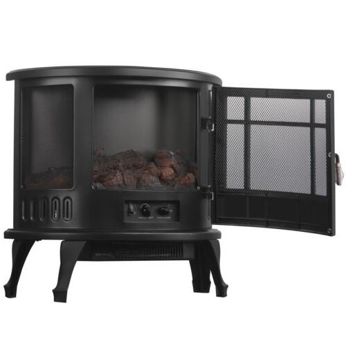 Electric Fireplace Stove Realistic Flame