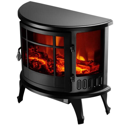"1500W Heater 23"" Electric Fireplace Realistic Flame"