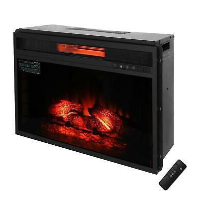 1500W Fireplace Insert Heater Flame Control
