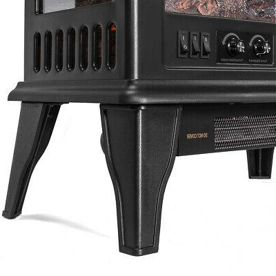 1500W Portable Space Heater Log Stove Free
