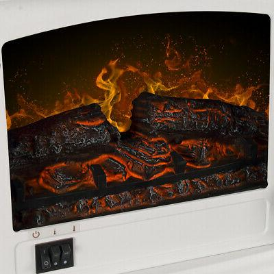 """17"""" Electric Fireplace Stove Heater 3D Flame"""