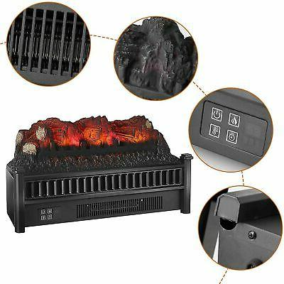 """23"""" 1400W Fireplace Logs Realistic Flame Hearth Insert"""