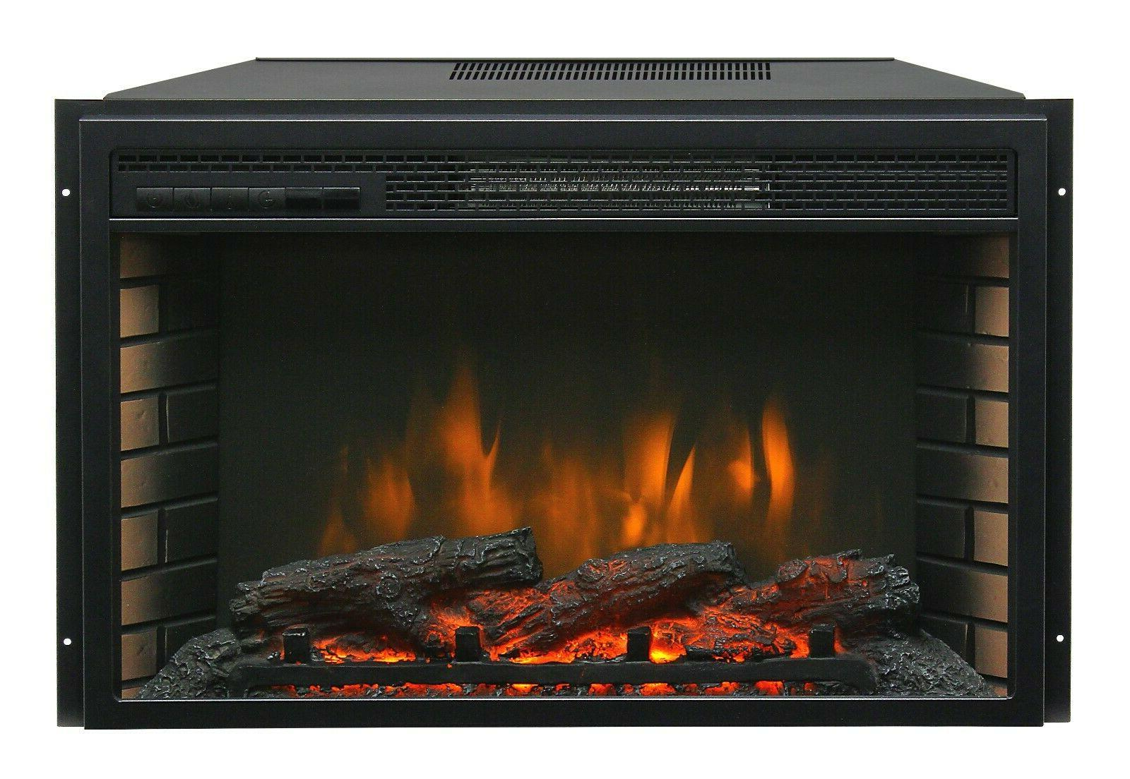 "26"" Electric Firebox Insert - Fan Heater and Fireplace"
