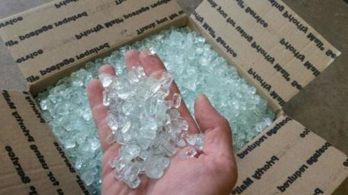 30lbs paradise1 2inch white crystal fire glass
