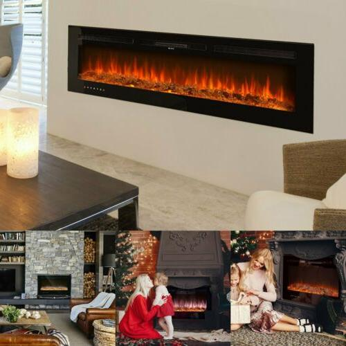 36 50 60 recessed electric fireplace in