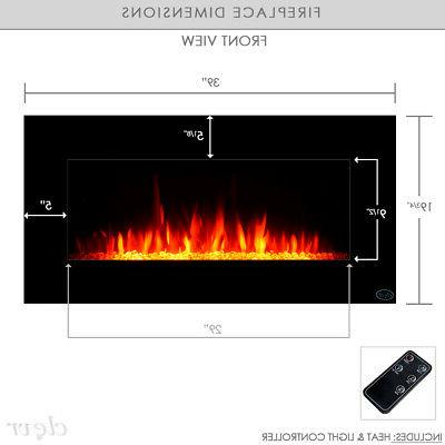Clevr Recessed Electric Fireplace Heater