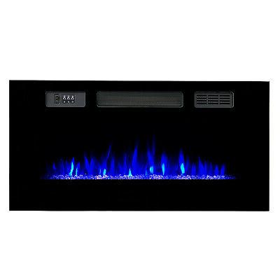 Recessed Electric Fireplace w/ Backlight