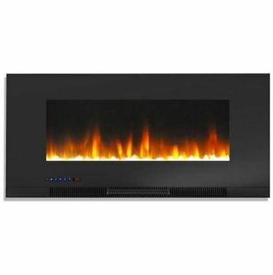 42 in wall mount electric fireplace in