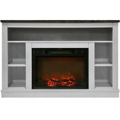 47 in electric fireplace with 1500w charred