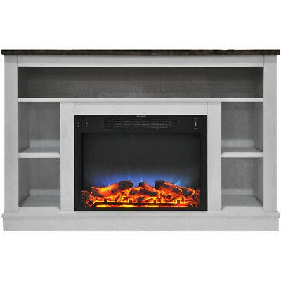 47 in electric fireplace with a multi