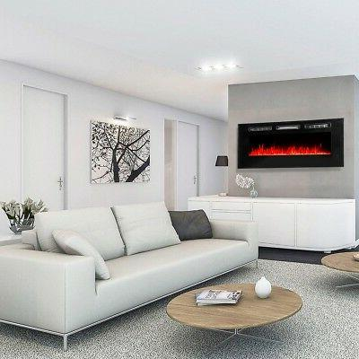 "50"" Electric Fireplace Recessed insert or Wall Standing Heater"