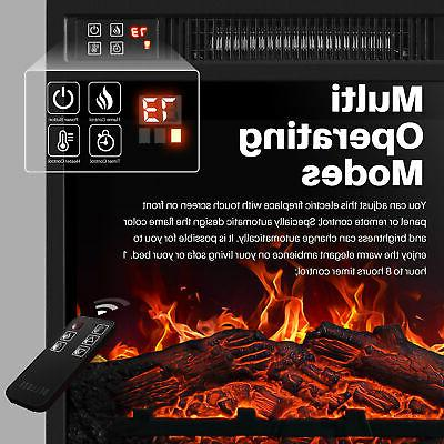 "18""Embedded Electric Fireplace Remote Heater Adjustable Flame"