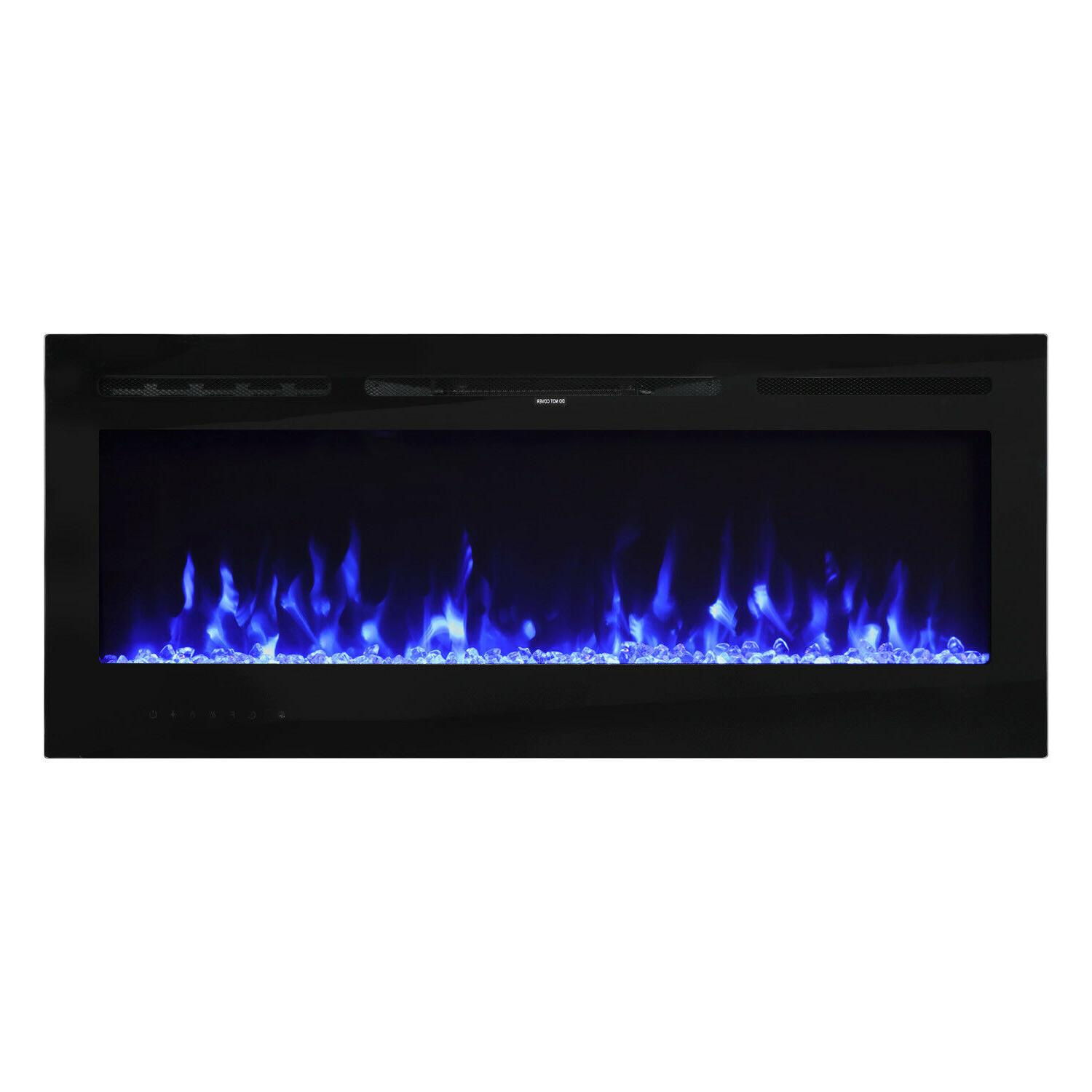 50 wall mount electric fireplace heater led