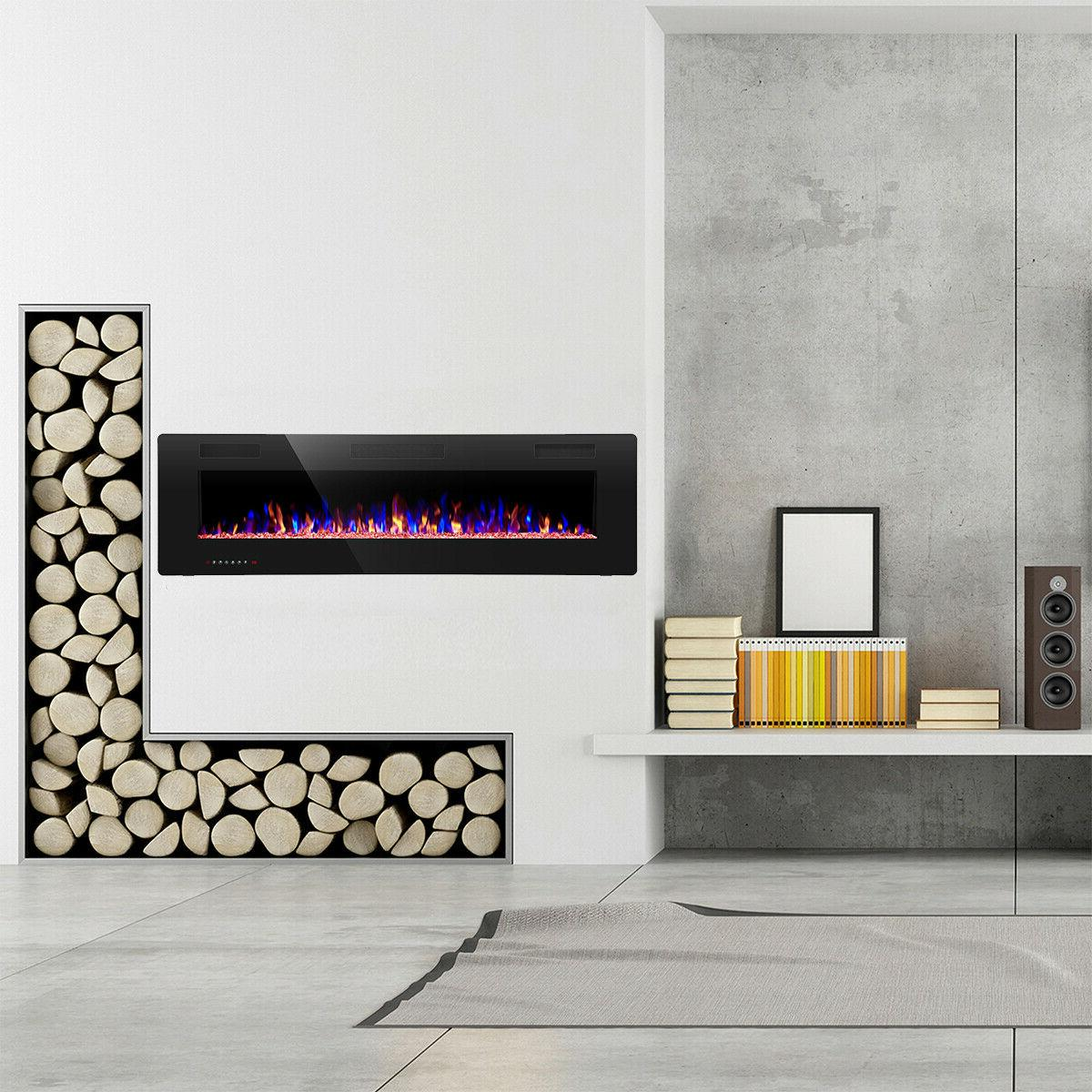 """60"""" Fireplace,Recessed&Wall Thin$Low"""