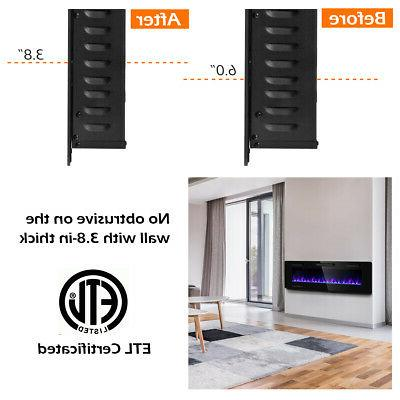 """60"""" Electric Fireplace Ultra Wall Heater Flame"""