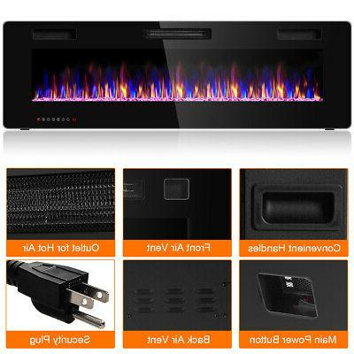 """60"""" Fireplace Ultra Thin Mounted Heater Multicolor"""