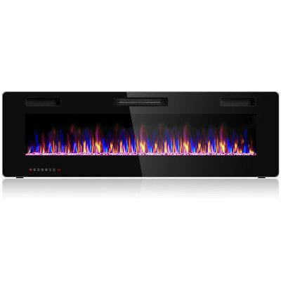 60 electric fireplace recessed ultra thin wall
