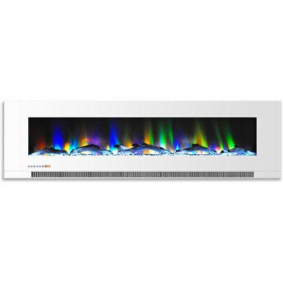 60 in wall mount electric fireplace in
