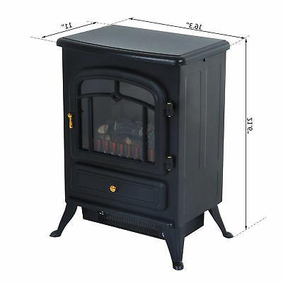 750W /1500W Fireplace Standing Wood Stove