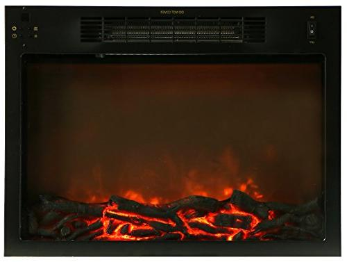 with Electronic Fireplace Cherry
