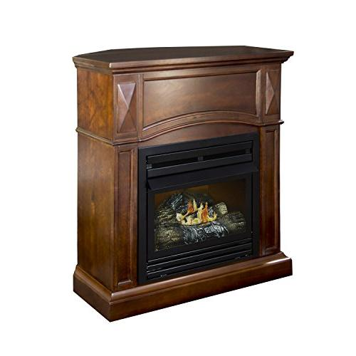 Pleasant Convertible Dual Fireplace, Cherry