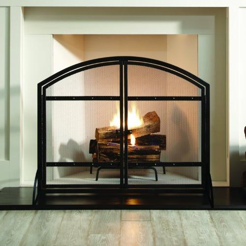 Pleasant Arched Fireplace Screen with