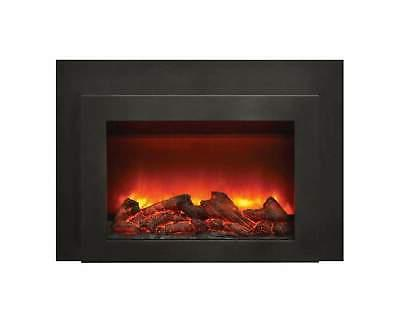 amantii electric fireplace insert with black surround
