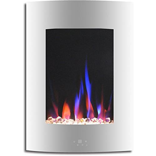 Cambridge CAM19VWMEF-1WHT Vertical Electric in White Multi-Color Flame and Display