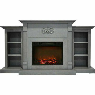 cam7233 1gry sanoma electric fireplace