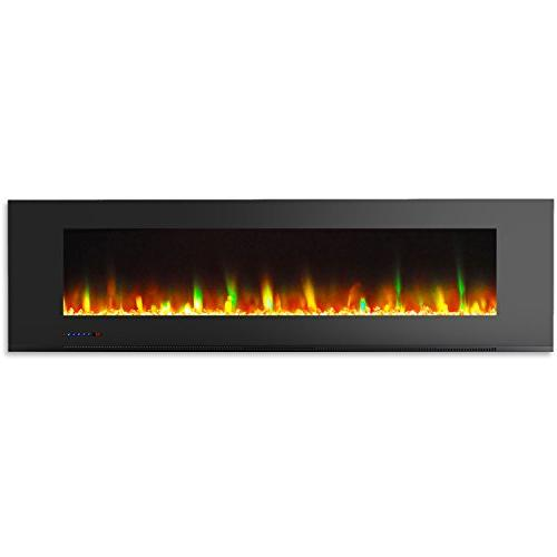 Cambridge CAM72WMEF-1BLK Wall-Mount Fireplace in Black and Display