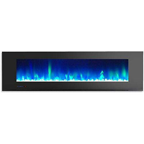 Cambridge 72 Wall-Mount in Black with and Crystal Rock Display