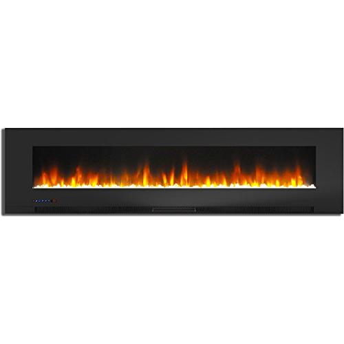 Cambridge Wall-Mount Black with Multi-Color Flames