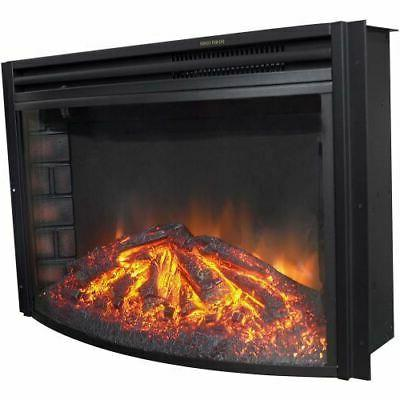 cambridge 25 freestanding electric curved fireplace heater
