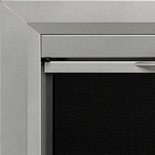 Pleasant Colby Cabinet Style Fireplace Smoked Glass Door