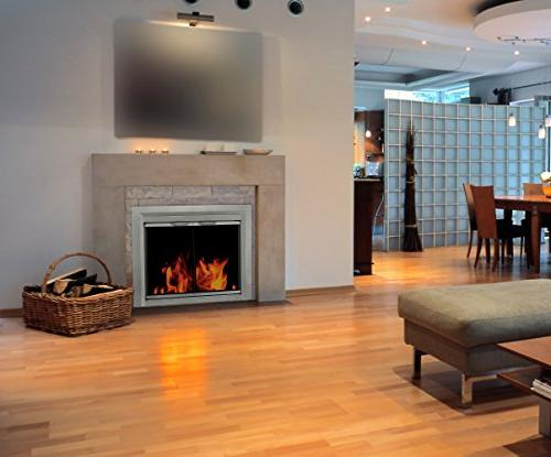 Pleasant Cabinet Style Fireplace Screen and Smoked Glass