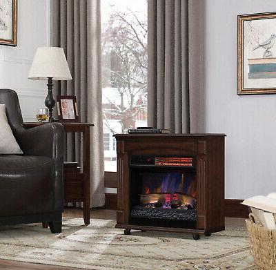 Electric Fireplace Heater Flame Remote