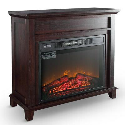 electric fireplace push button control logs stove