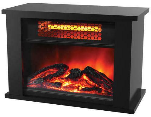 Electric Infrared Space Heater Stove Fireplace Flame Effect