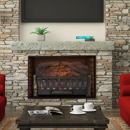 Electric with Realistic Bed Fireplace LED