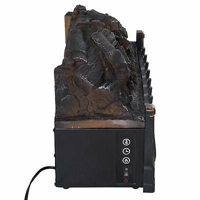 Electric Log with Fireplace - Black