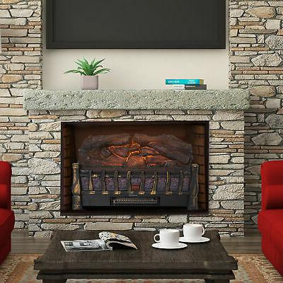 electric log set heater with realistic ember