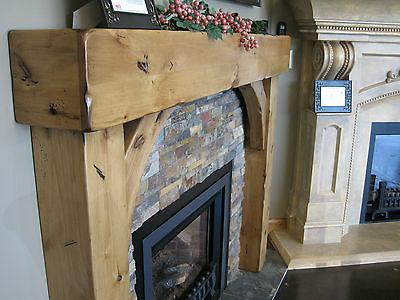 Fireplace Knotty Beam & With