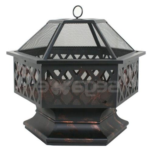 Hex Patio Fire Pit Outdoor Home Backyard