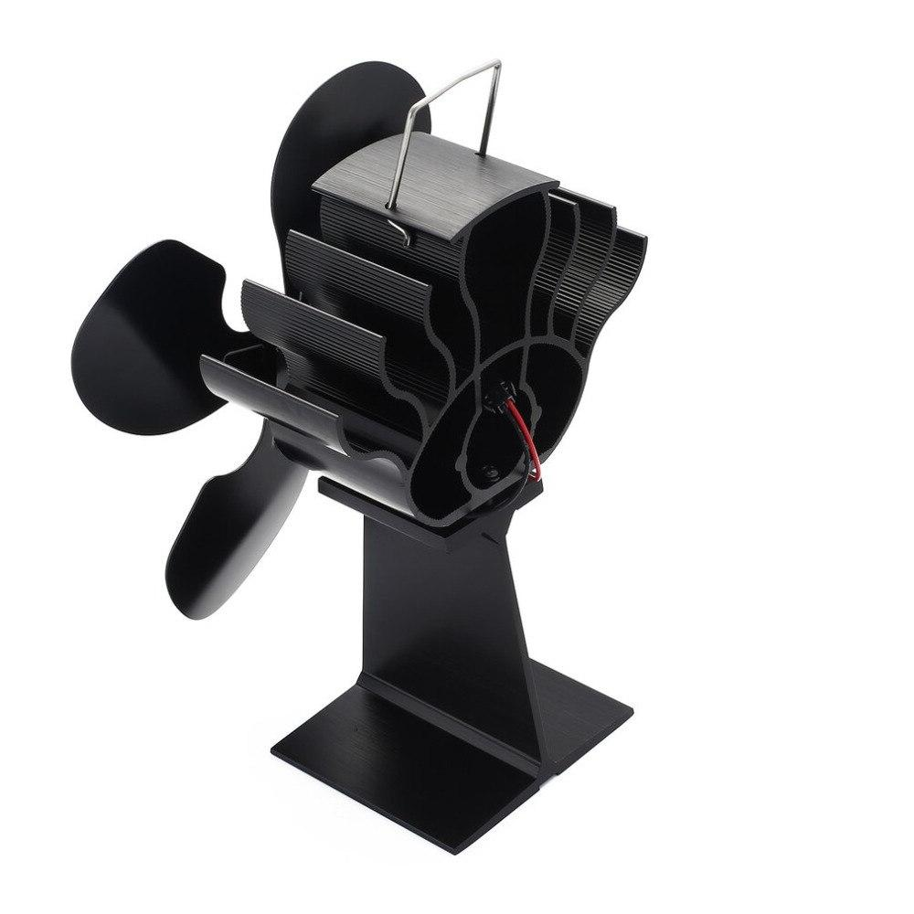hot 4 blade heat powered stove fan