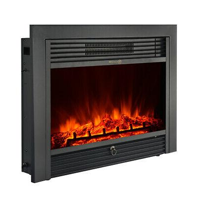Wall Electric Insert Log Flame Control Warm heater