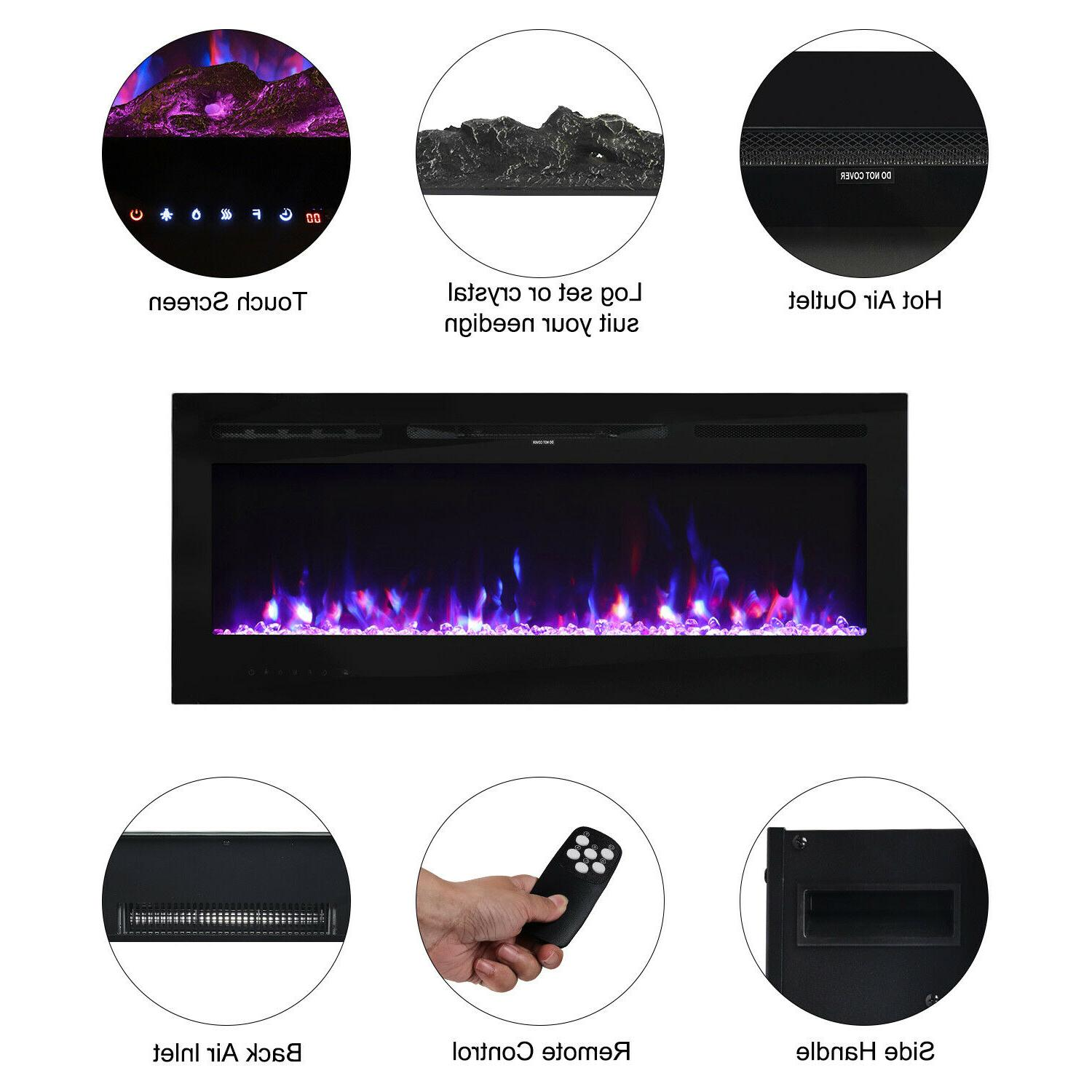 """50"""" Wall Fireplace Heater LED Indoor"""