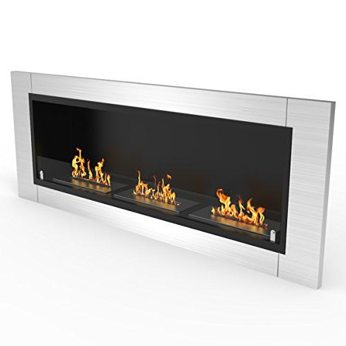 Regal Flame Lenox 54 Inch Recessed Ethanol Mounted Fireplace