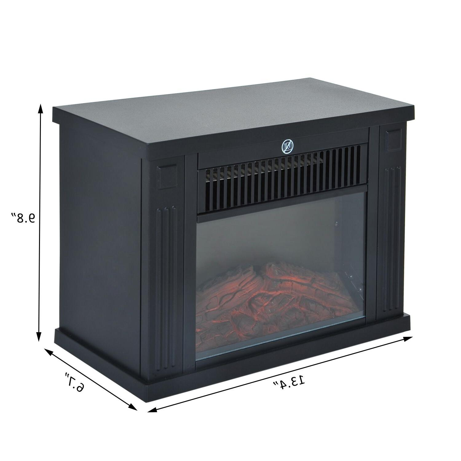 Portable Electric Standing Heater LED Flame