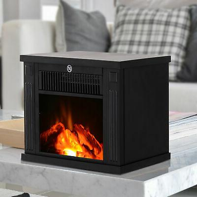 portable electric fireplace standing tabletop