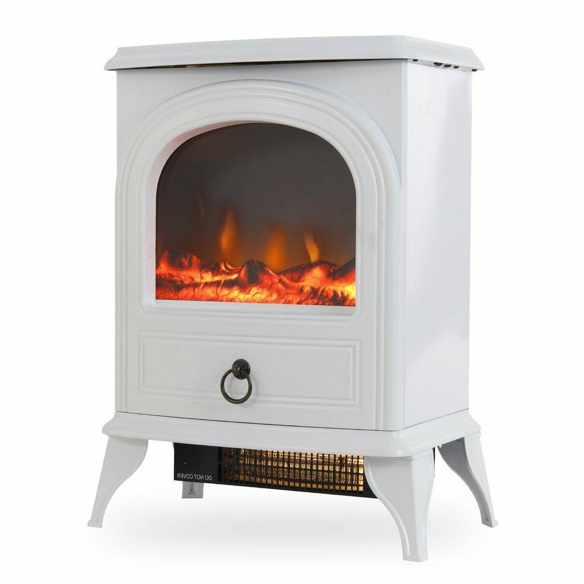 Portable Free Standing Electric Fireplace Retro Vintage Heat